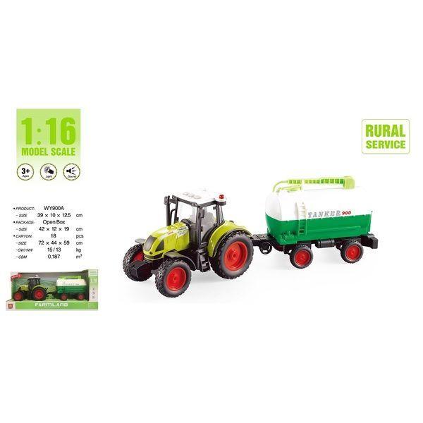 "1:16 Tractor cu inertie ""Trailered Farm Tractor"" (lumina / sunet)"
