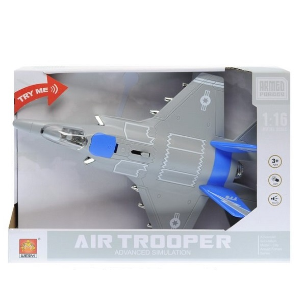 "1:20 Avion cu inertie ""Jet Fighter"" (lumina/sunet)"