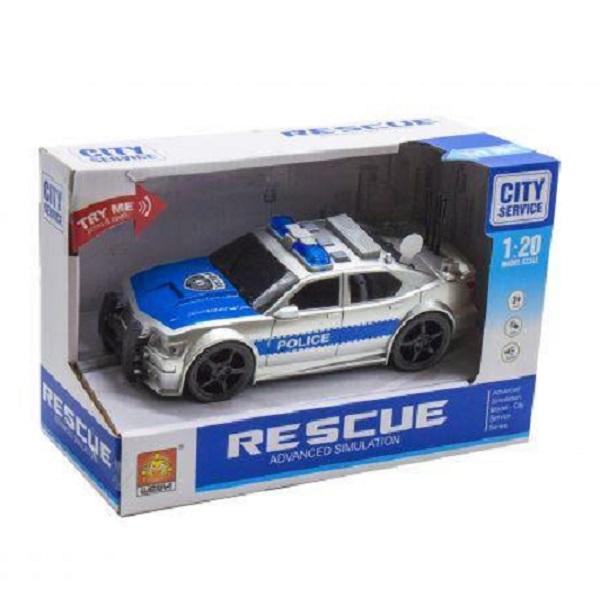 "1:20 Masina cu inertie ""Police Car"" (lumina / sunet)"