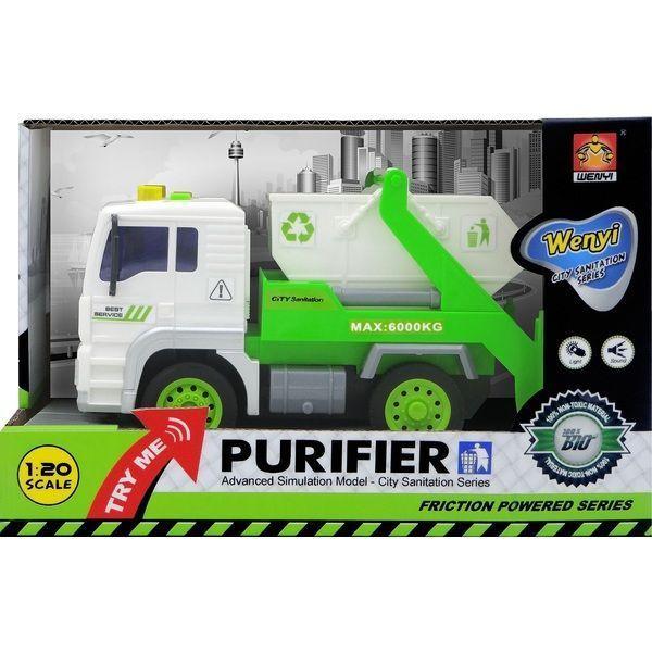 "1:20 Masina cu inertie ""Sanitation Truck"" (lumina / sunet)"