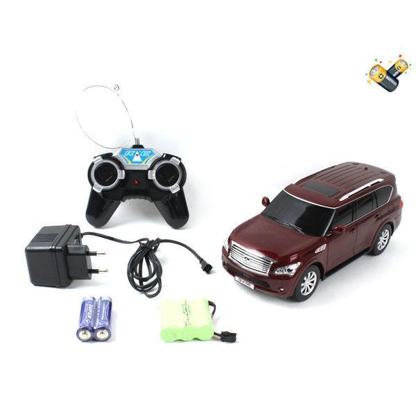 1:24 INFINITI QX56 R/C CAR WITH CHARGER (white/ cherry)