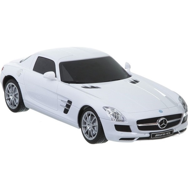 1:24 Mercedes-BENZ SLS R/C CAR WITH CHARGER (red/ white/ metalic)