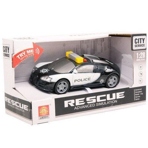 "1:28 Masina cu inertie ""Police Car"" (lumina / sunet)"