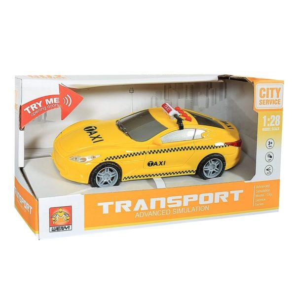 """1:28 Masina cu inertie """"Taxi Car"""" (lumina / sunet)"""