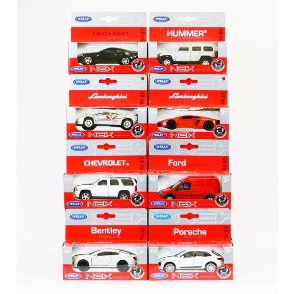 1:34 Коллекционные Металлические Машинки USA+EUR (ИНЕРЦИЯ) 8 моделей