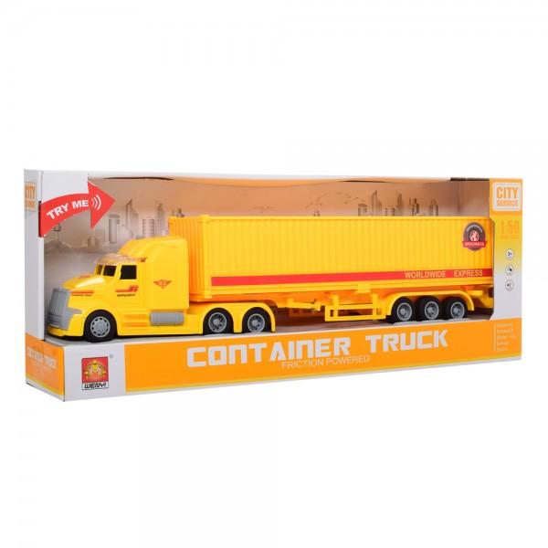 "1:50 Masina cu inertie ""Container Truck"" (lumina/sunet)"