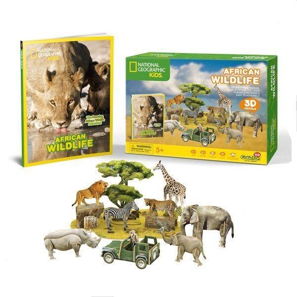 3D PUZZLE AFRICAN WILDLIFE