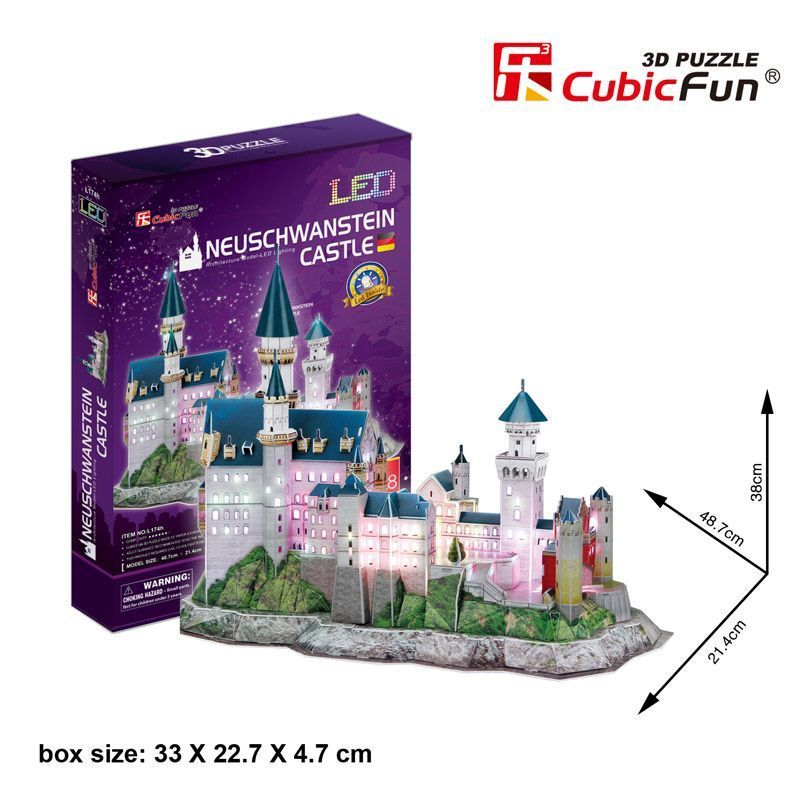 3D PUZZLE Neuschwanstein Castle LED