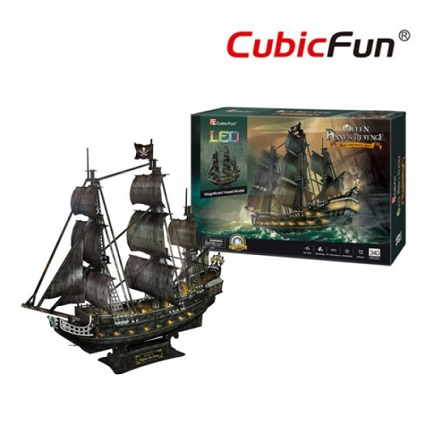 3D PUZZLE Queen Anne's Revenge LED