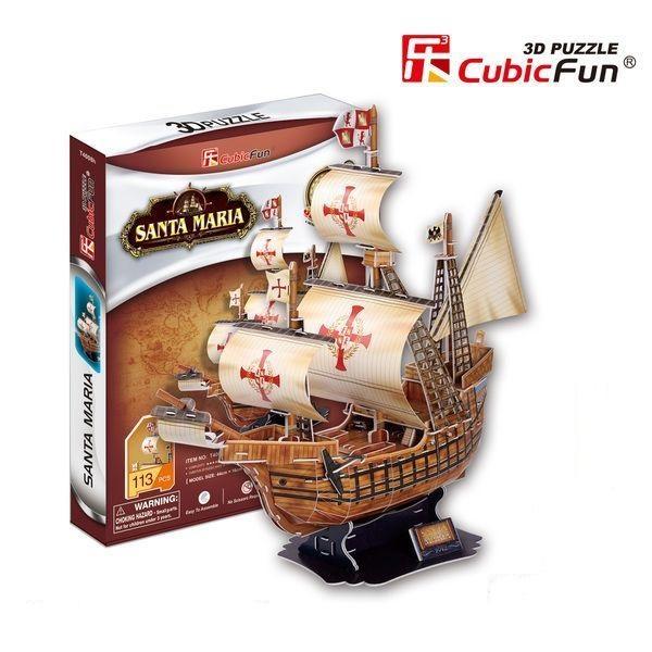 3D PUZZLE Santa Maria schooner