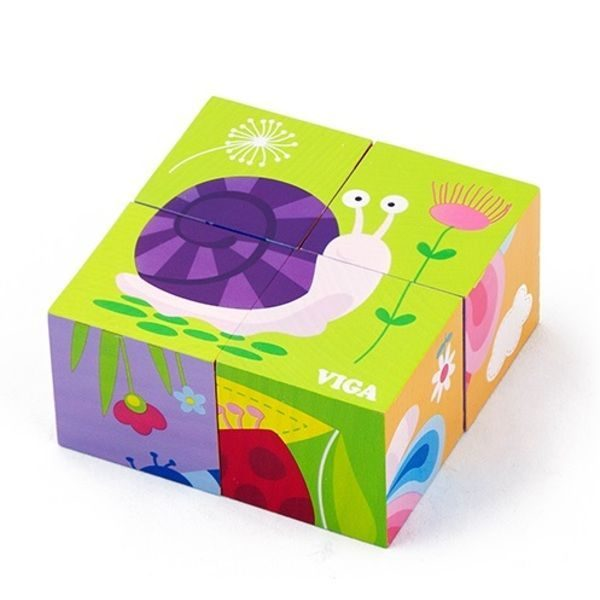 4pcs 6-side Cube Puzzle - Insect