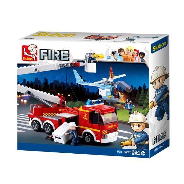 CONSTRUCTOR FIRE Platform Fire Truck + Fire Helicopter