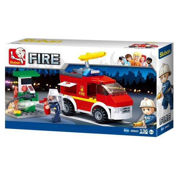 CONSTRUCTOR FIRE Small Fire Truck + Oil Station
