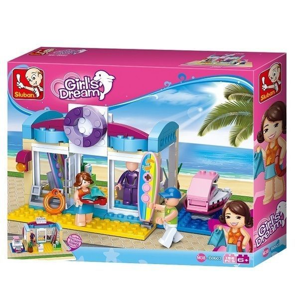 CONSTRUCTOR GIRL IS DREAM Beach Shop 192pcs