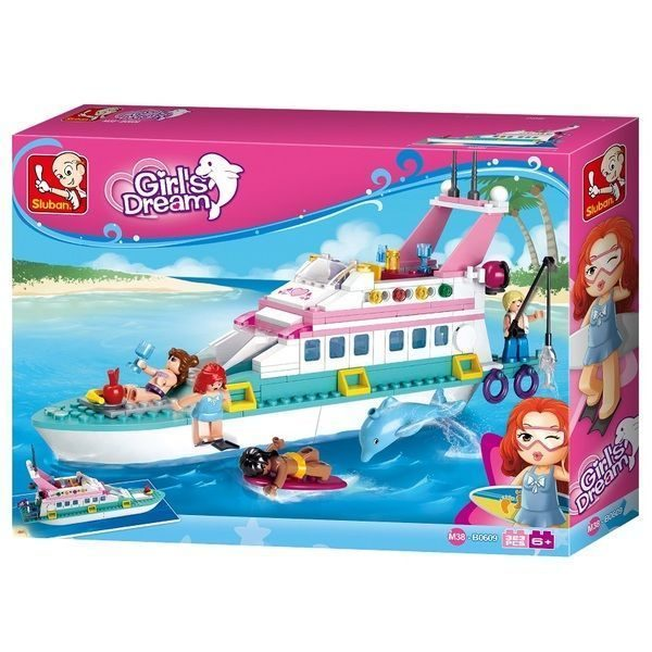 CONSTRUCTOR GIRL IS DREAM Luxury Yacht 323pcs