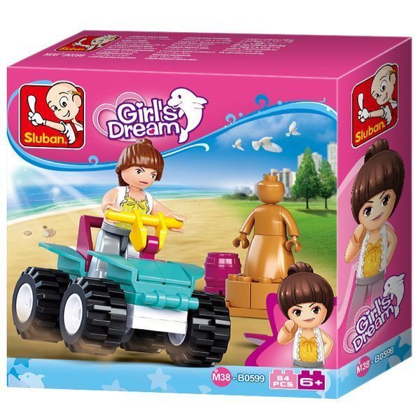 CONSTRUCTOR GIRL IS DREAM Quad bike 54pcs