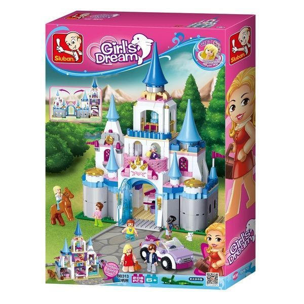 CONSTRUCTOR GIRL IS DREAM Sapphire Castle 818pcs