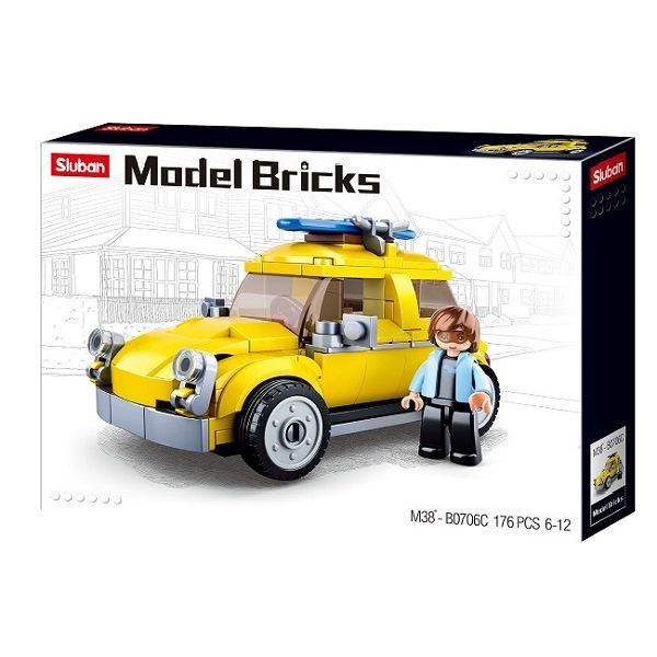 CONSTRUCTOR MODEL BRICKS - BEETLE CAR