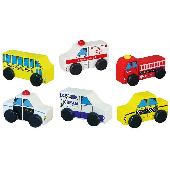 City Vehicles 6pcs Set