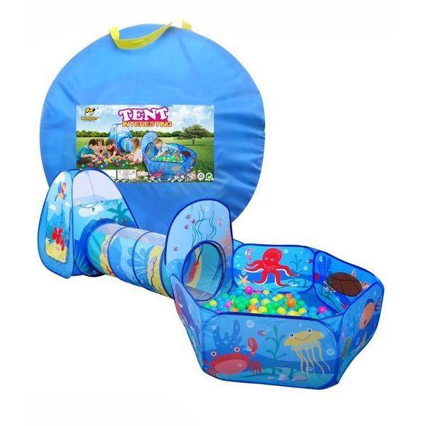 Cort pentru copii cu tunel si piscina uscata