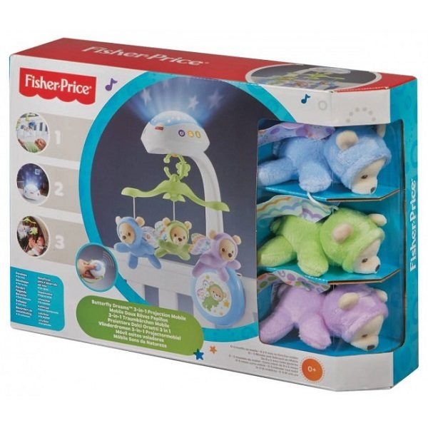 Fisher-Price Butterfly Dreams 3-in-1 Project Mobile