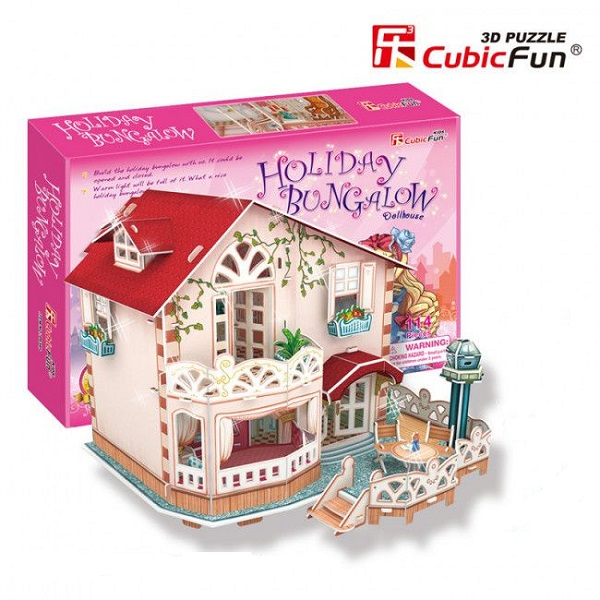 Holiday Bungalow Dollhouse (with flash led)