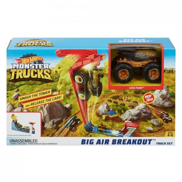 """Hot Wheels """"Monster Trucks"""" Set """"Big Air Breakout"""""""