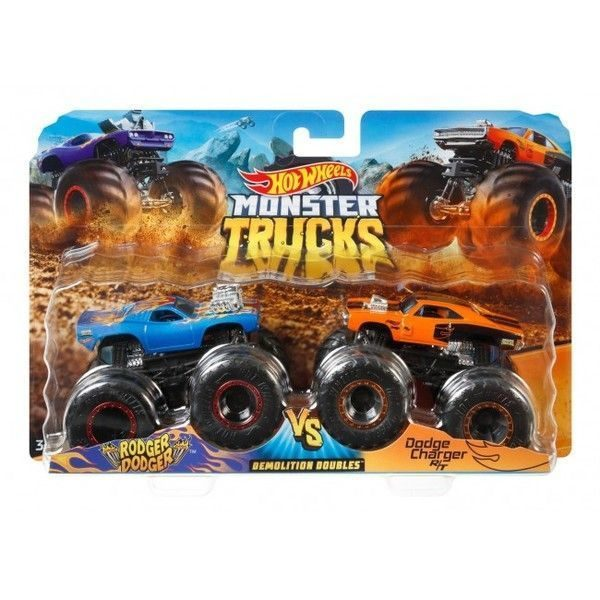 "Hot Wheels ""Monster Trucks"" set 2 masini (as)."