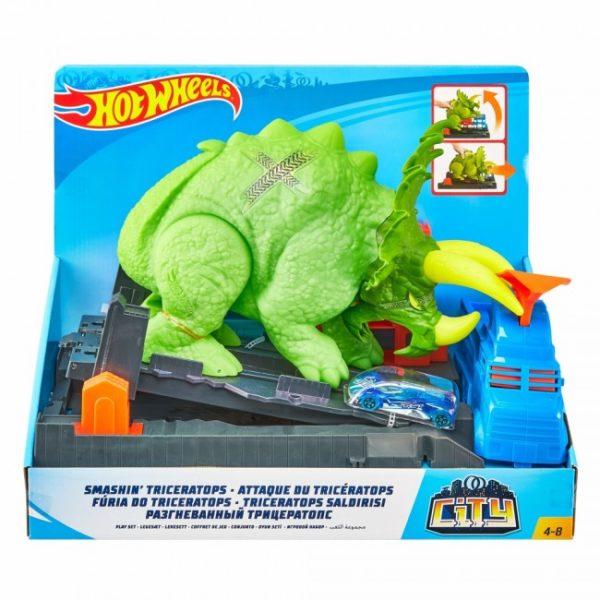 """Hot Wheels Set """"Furia de Triceratops"""""""
