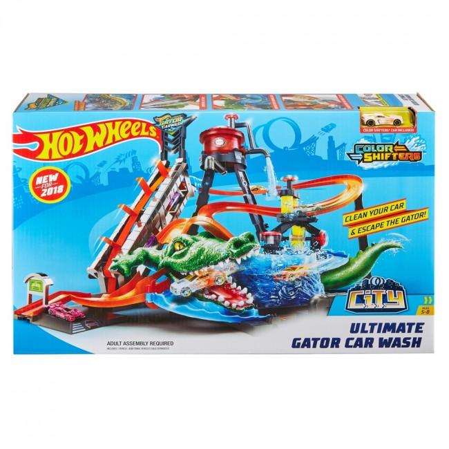 "Hot Wheels Set Joaca ""Color Shifters Ultimate Gator Car Wash"""