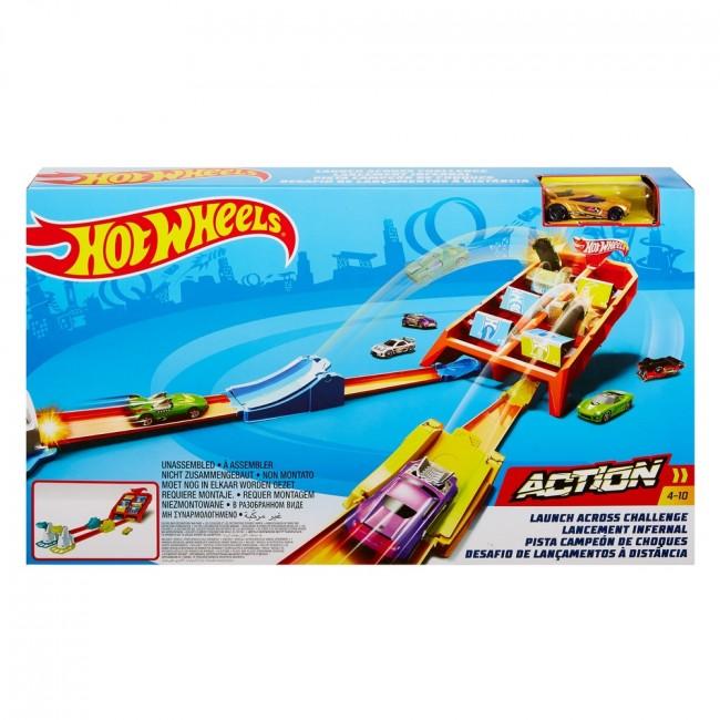 "Hot Wheels Set ""Launch Across Challenge"""