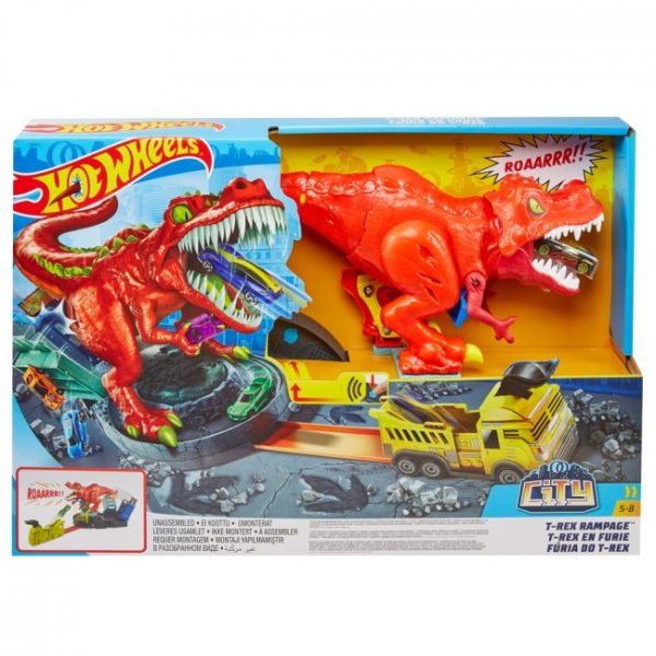 "Hot Wheels Set ""T-Rex Rampage"""