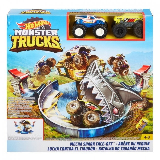 "Hot Wheels ""Monster Trucks"" Set ""Mecha Shark Face-Off"""