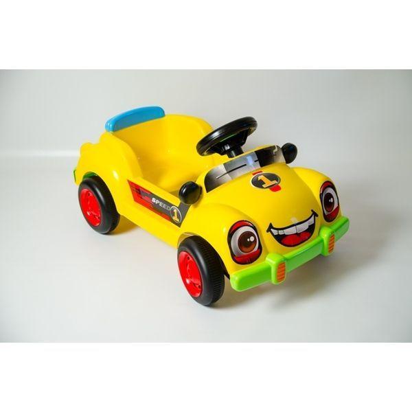 Masina cu pedale (rosie / albastra)