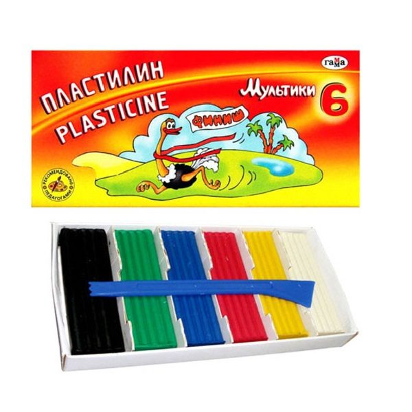 Plastilina desene animate 6 culori
