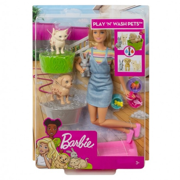 """Set Barbie """"Play and Wash Pets"""""""