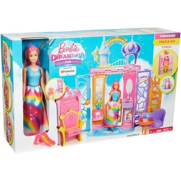 "Set cu Papusa Barbie ""Castle Dreamtopia"""