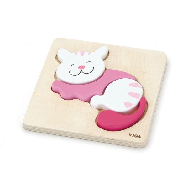 Shape Block Puzzle - Cat