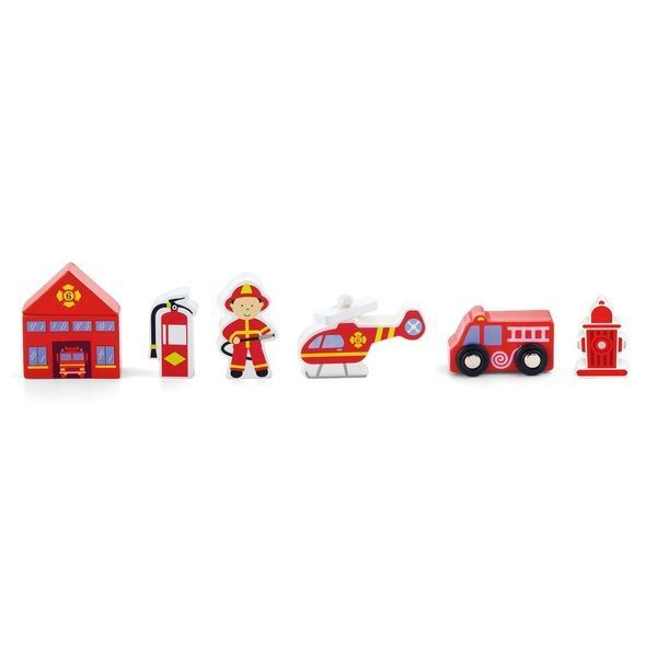 Train Set Accessory -Fire Station