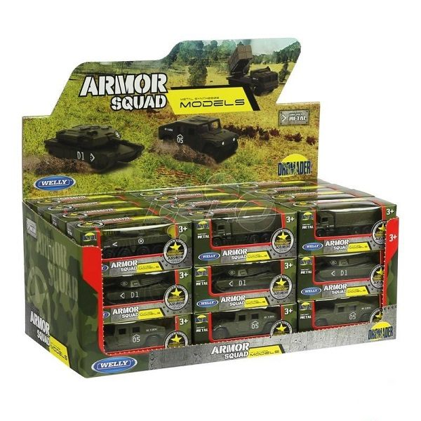 Welly 1:60 ARMY metal. 6 modele (36set)