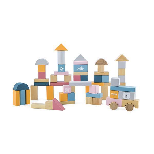 Wooden Blocks - 60pcs
