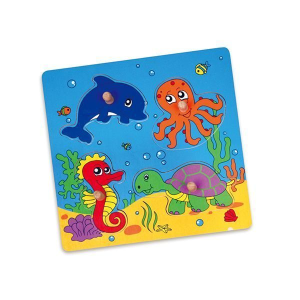 Wooden Flat Puzzle - Sea Animals