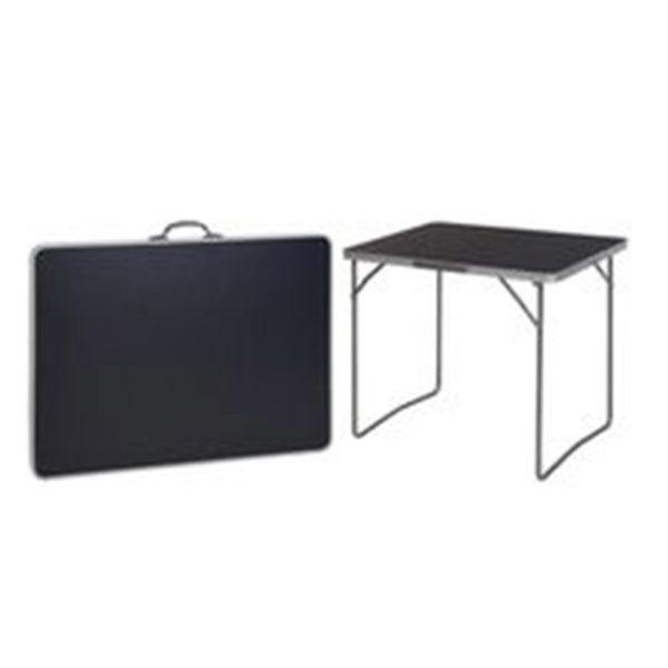 Masa plianta 80X60X4.5cm, negru, valiza, metal/plastic