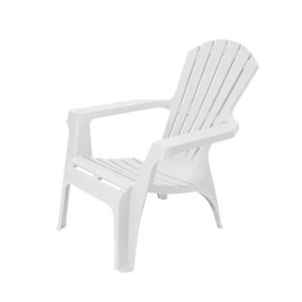 Scaun pentru terasa din plastic 85X74X87cm, alb